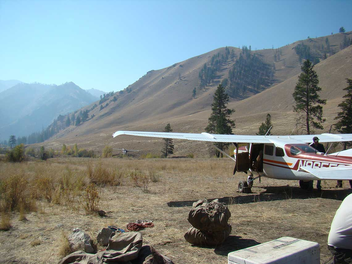 Unloading at Big Creek in the Frank Church Wilderness on the Middle Fork of the Salmon.
