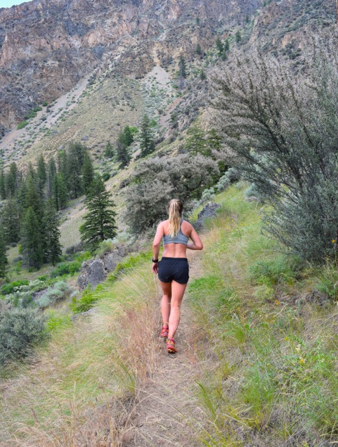 Woman Trail Running Frank Church Wilderness